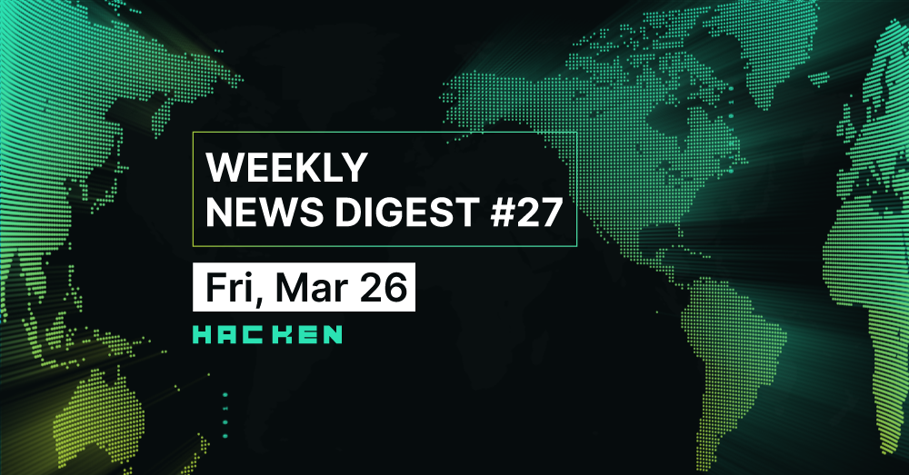 Weekly News Digest #27